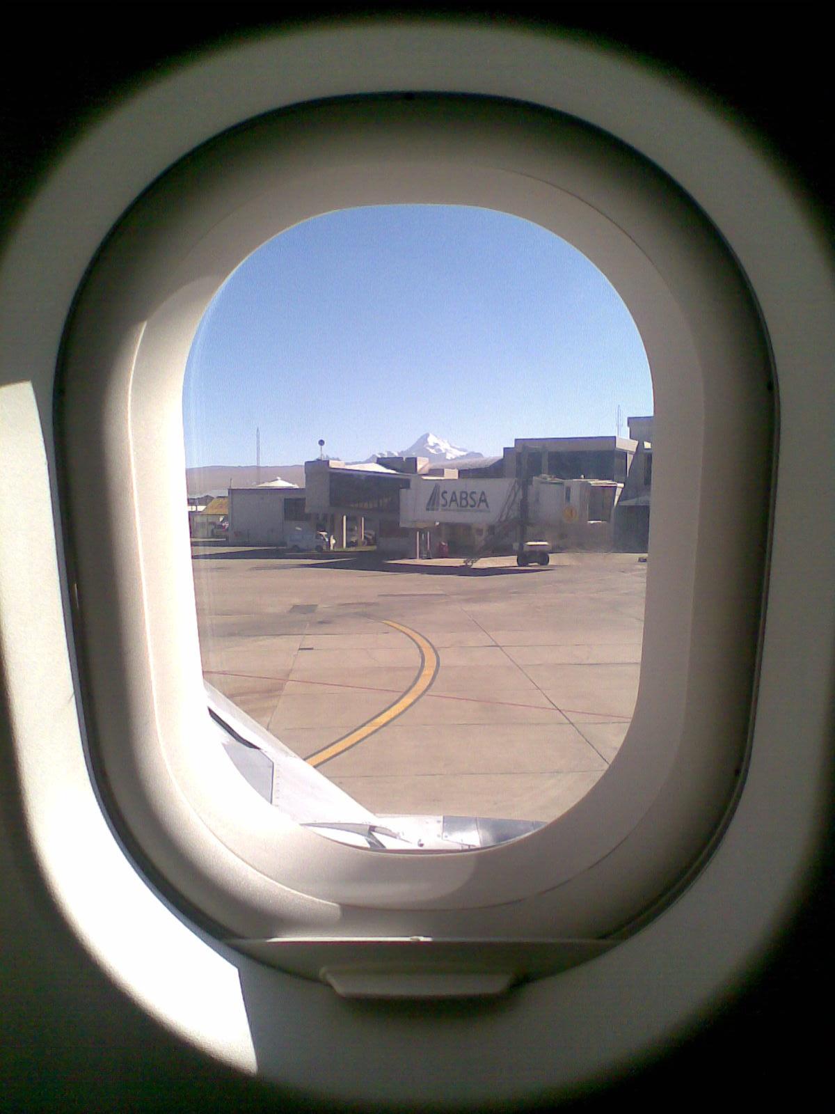Huayna desde el Avión En el aeropuerto de El Alto (La Paz), si el ...